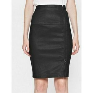 French connection side zip skirt